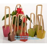 China Paper Bag Manufacturer OEM Best Quality CMYK Colored Kraft Paper Gift Bag Flower Carrier Bags,customized flower carrier on sale