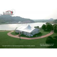 China 20 x 25m 500sqm Aluminum Outdoor Party Tents A Shape With Lining Curtain wholesale