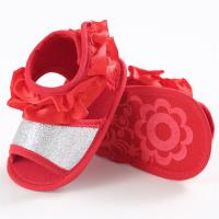 China Wholesale infant Sandals Flower Lace Wedding party Princess baby shoes for Girl on sale