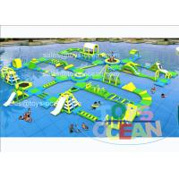 China Yellow Green Giant Inflatable Aqua Play Park Floating For Water Fun EN15649 wholesale