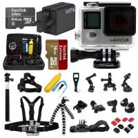 China GoPro HERO4 Silver Edition +64GB SanDisk +2 Battery +30pcs ALL you need Pro Kit! wholesale