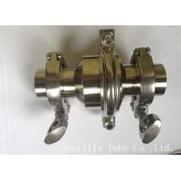 China ASTM A270 Stainless Steel Sanitary Valves / Elbow Valves With Tight Tolerances on sale