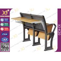 Quality Gravity Return Folded Seat Lecture Hall Chair Table With Writing Board For for sale
