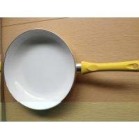 Quality 28cm White Ceramic Coating Stamped Fry Pan With Induction Bottom for sale
