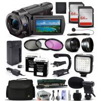 China Sony FDR-AX33 4K HD Handycam Camcorder Video Camera + 128GB Accessories Bundle wholesale