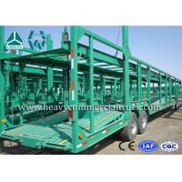 China Double Axles Single Car Carrier Semi Trailer High Tensile Steel Q345B on sale