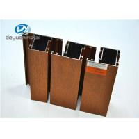 China 6063-T5 Wood Grain Aluminium Extrusion Profile Polishing For Doors / Window wholesale