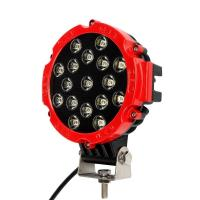 """China 51W 7"""" Red Flood Round LED Work Light Off-road Fog Driving Roof Bumper for SUV Boat Jeep Lamp wholesale"""