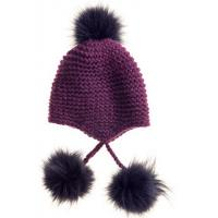 China Handmade Wool Knitted Beanie Scarves Sets Heavy Knitted Fur Hat Scarf Set wholesale