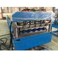 China 5 - 8 m / min Fast Speed Color Steel Roof Tile Forming Machine One Complete Chain Drive wholesale