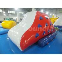 China Red Inflatable Iceberg With 2 Sides Climbing For Swimming Pool wholesale