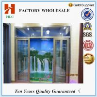 China Doubling glazing 2.0mm thickness aluminum sliding door price wholesale
