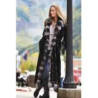 China Maertisa Mink Fur Coat with Silver Fox Fur Trim manufacturer wholesale with free shipping by express wholesale