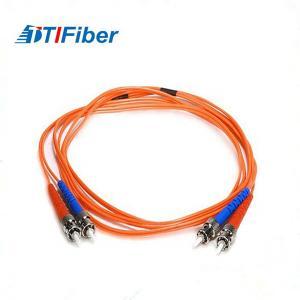 Quality ST To ST Fiber Optic Patch Cord Multimode Duplex 1m 3.28ft 50/125um OM2 Multi for sale