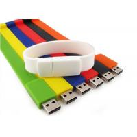 China Silicone custom branded USB flash drives Wrist bands USB2.0 32GB / 16GB / 8GB on sale