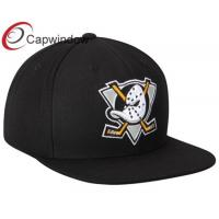 Black Anaheim Ducks Wool Flat Brim Baseball Hats for Adults