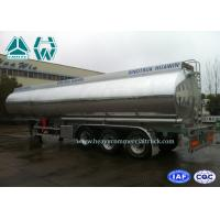China Stainless Steel Fuel Tank Semi Trailer 3 Axles 60000 Liters With Mechanical Suspension wholesale