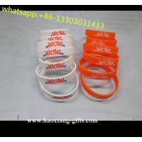 China Feature and Debossed/Embossed/Screen-printed Technique Silicone Bracelet wholesale