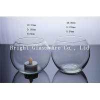 China Large Glass Hurricane Candle Holder, Blown Glass Cup wholesale