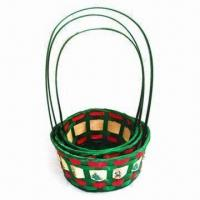 China Christmas Baskets, Various Colors are Available, Made of Cane wholesale