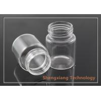 Quality 30ml Empty Borosilicate Glass Bottle for Snacks / Glass Medicine Bottles for sale