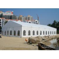China White 2Nd Hand Clear Span Marquee , Outside Storage Tents 500 People wholesale