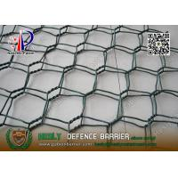 China Green Color PVC coated Wire gabion mesh boxes | 80X100mm hexagonal hole wholesale