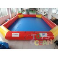 China Large Red Blow Up Water Toys / Inflatable Amusement Park For Land wholesale