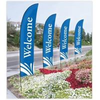 China Double Sided Beach Flag Banner Sublimation Printing Aluminum / Fiberglass Poles wholesale