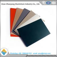 China Roofing Panel Color Coated Aluminium Alloy Sheet 1100 1060 1050 H24 / H14 0.6mm wholesale