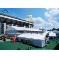China Business Fire Proof Large Steel Frame Tents Temporary 10mx25m Space wholesale