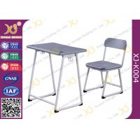 China Modern PVC Combo Children School Tables And Chairs With Electrostatic Powder Coating Surface wholesale