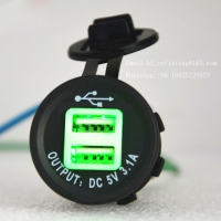 China Waterproof DC 12 VOLT Universal adapter dual port usb car charger 3.1a wholesale