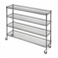 China 4 Tier Metal Rolling Cart With Wheels With Baskets For Retail Storage 5 X 18 X 21 on sale