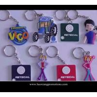 China Custom 3D pvc keychain for promotion|soft pvc rubber keychain wholesale