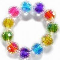 China Children's Jewelry Bracelet, Made of Acrylic Beads, Customized Designs are Welcome wholesale