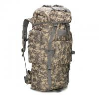 Quality Woodland Camo Outdoor Travel Backpack Oxford Fabric 65L For Long Trips for sale