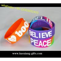 China Hot Sale No Minimum Custom Debossed/Embossed/printed 1 Inch Silicone Wristbands wholesale