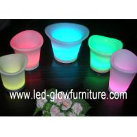 China Different size Waterproof lighting LED Flower Pots Rechargeable Plant Containers OEM wholesale