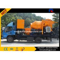Quality S Pipe Valve Portable Concrete Mixer Pump Truck Motor Power 37kw for sale