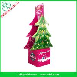 China Funko Tree shape Folding displays Commercial retail pop floor stand shelf cardboard floor display for Christmas wholesale