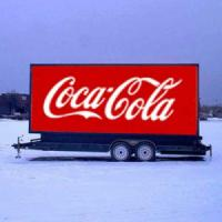 China Outdoor full color video function truck mobile advertising led display/ P10 led trailer display for mobile truck for com wholesale