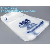 China 1kg 2kgIce Cube Frozen Bag, 10 lb Ice Bags on Wicket, bag with nylon drawstring for firewood /ice, Preprinted Poly Ice B wholesale
