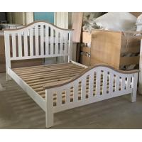 China Simple Modern Bedroom Furniture Curved Wooden Bed Frames With Headboard wholesale