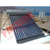 China Household Heat Pipe Solar Water Heater 200 Liter High Density Insulation wholesale