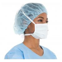 Hospital use PP Non Woven Disposable Flat Surgical Face Mask With Tie
