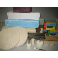 China 100mm wool felt wheel with velcro backer wholesale