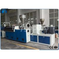 China Conical Twin Screw Profile Extrusion Line For Wood Plastic Composite Profile wholesale