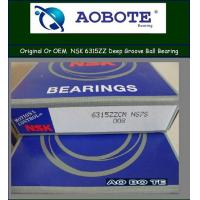 China Single Row NSK Ball Bearings 6315ZZCM Deep Groove With Low Vibration wholesale