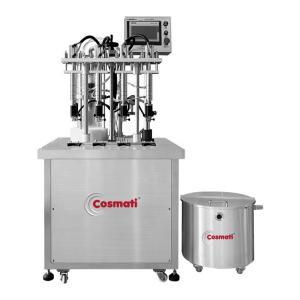 China 4 Heads magnetic pump semi-auto quantitative perfume filling machine liquid bottle filling machine on sale